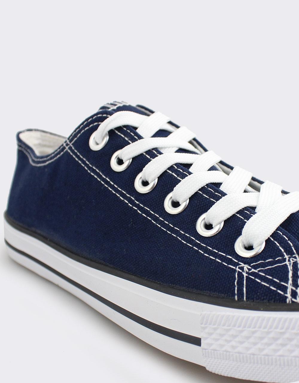 Εικόνα από Ανδρικά sneakers με κορδόνια Μπλε