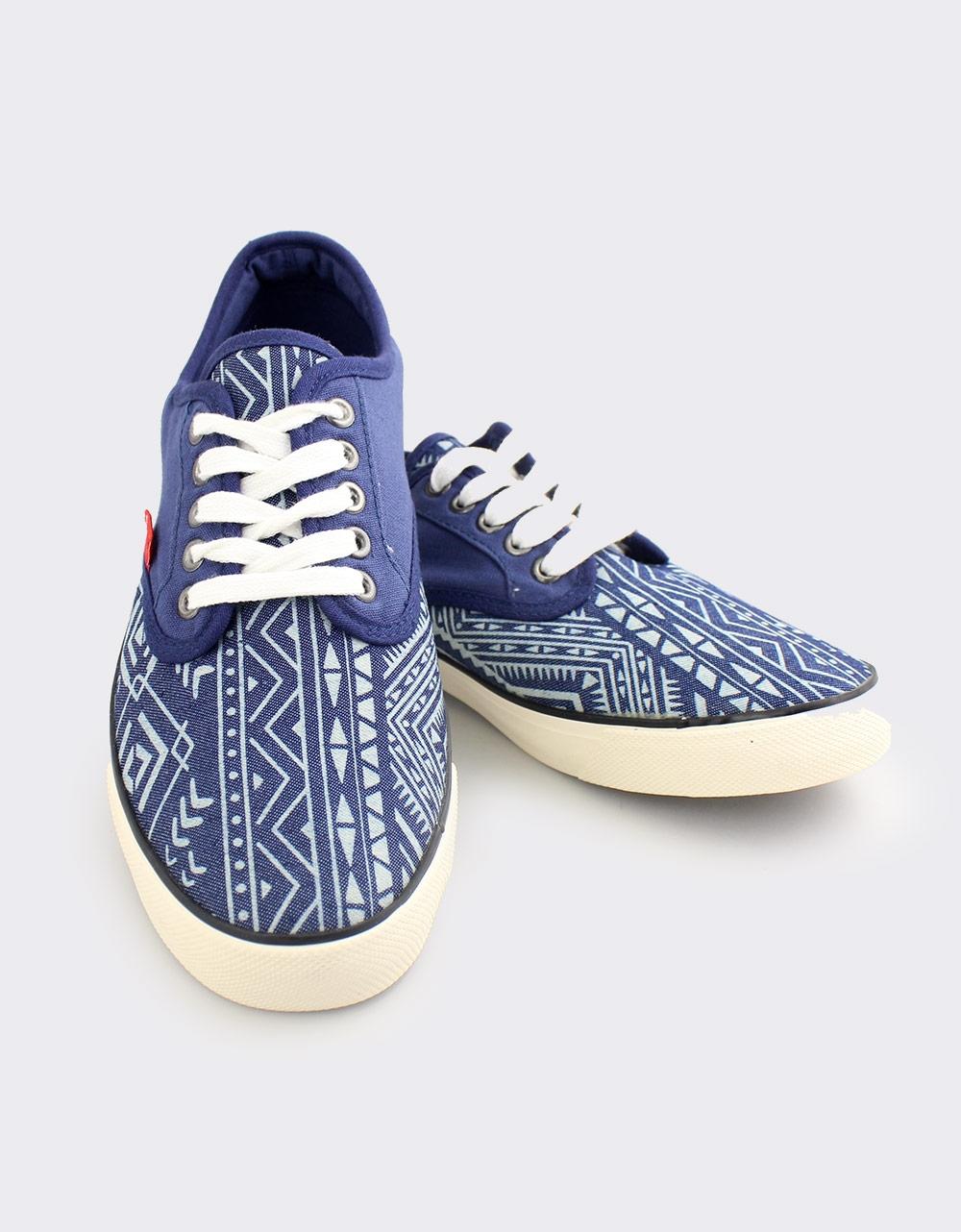 Εικόνα από Ανδρικά sneakers με tribal παράσταση Μπλε