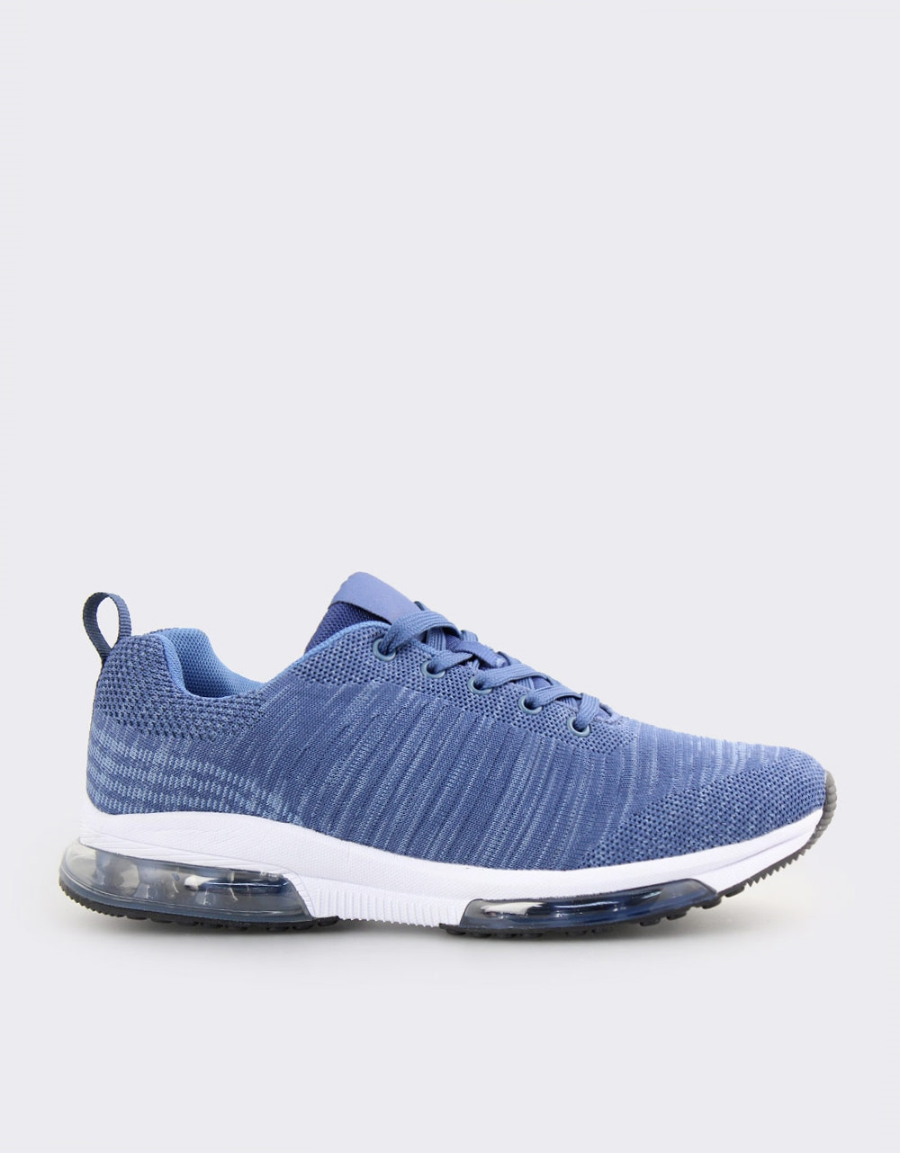 Εικόνα από Ανδρικά sneakers με σχέδιο και αερόσολα Μπλε