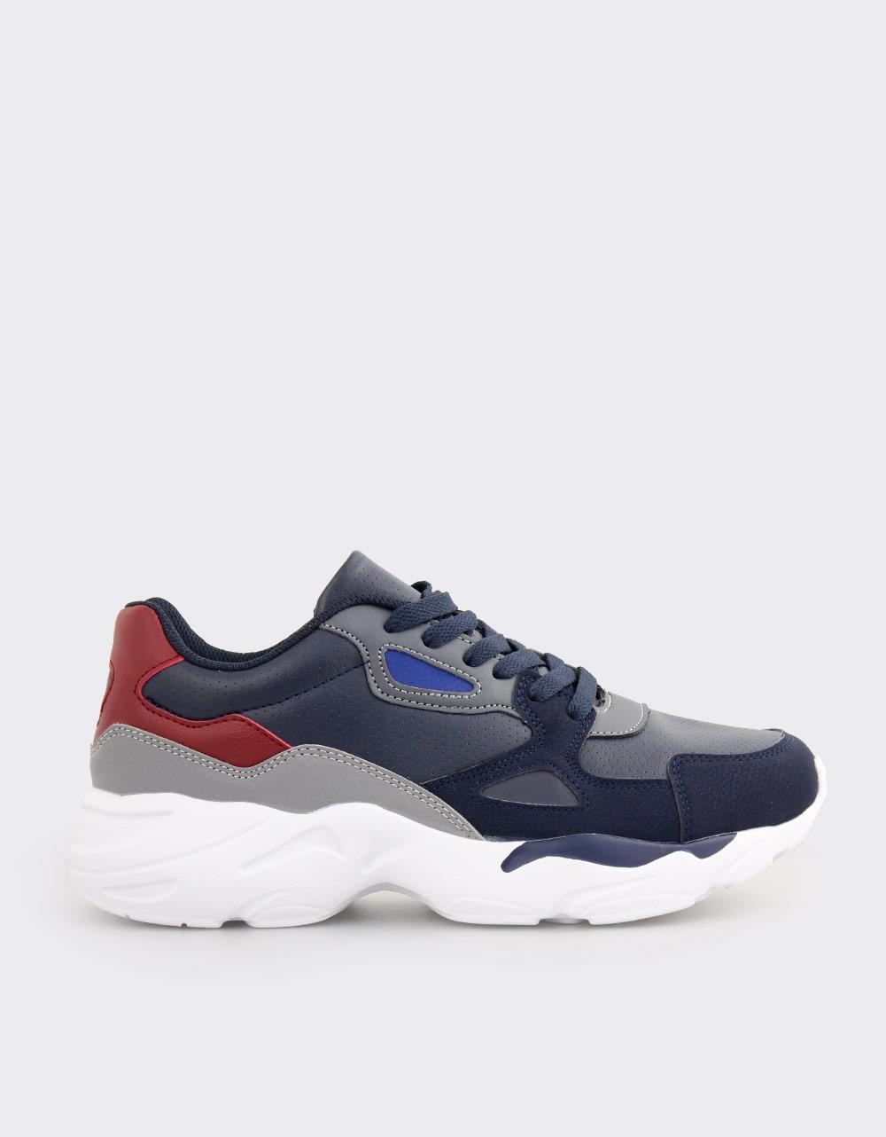 Εικόνα από Ανδρικά sneakers με ανάγλυφες λεπτομέρειες Μπλε