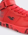 Εικόνα από Παιδικά αθλητικά μποτάκια με αυτοκόλλητο Κόκκινο