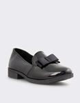 Εικόνα από Γυναικεία loafers με φιόγκο Μαύρο