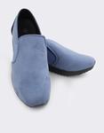 Εικόνα από Γυναικεία loafers μονόχρωμα με λάστιχο Μπλε
