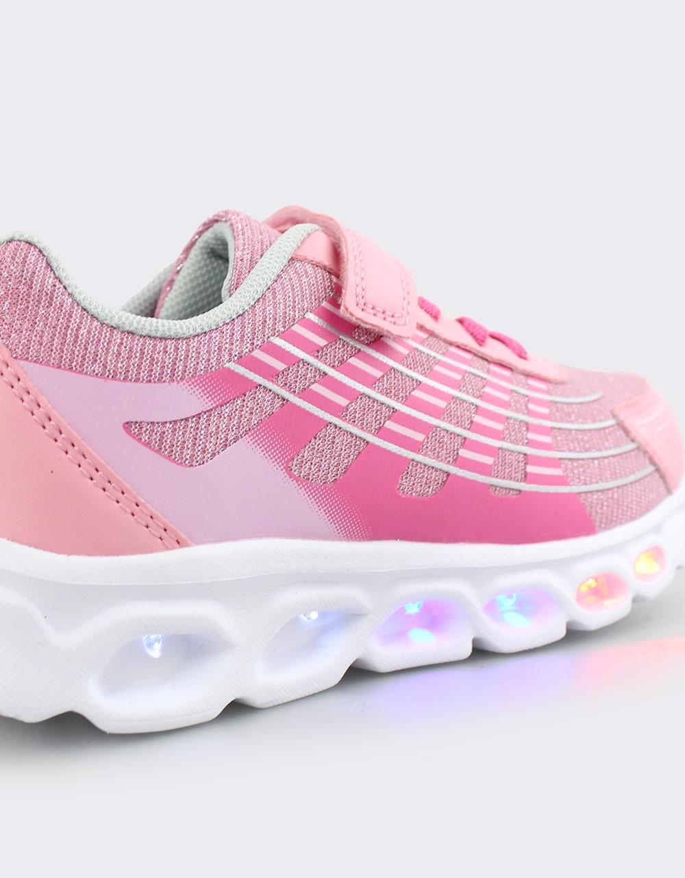 Εικόνα από Παιδικά αθλητικά με φωτάκια και glitter Ροζ/Φούξια