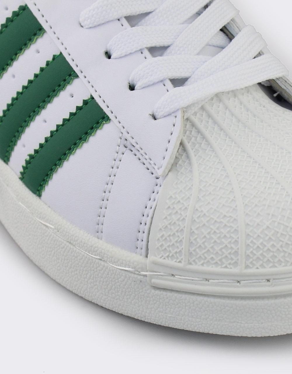 Εικόνα από Γυναικεία sneakers με ρίγες Λευκό/Πράσινο