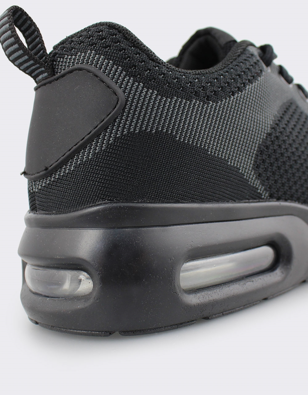 Εικόνα από Ανδρικά sneakers δίχρωμα με αερόσολα Μαύρο