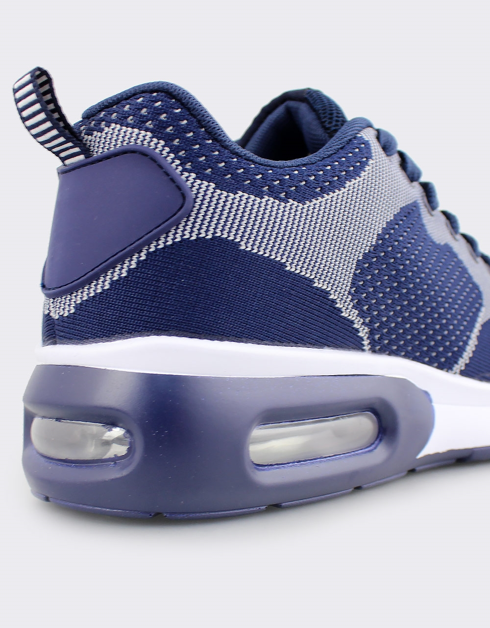 Εικόνα από Ανδρικά sneakers δίχρωμα με αερόσολα Μπλε