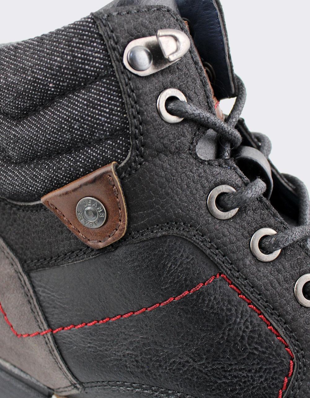 Εικόνα από Ανδρικά μποτάκια με φερμουάρ Μαύρο