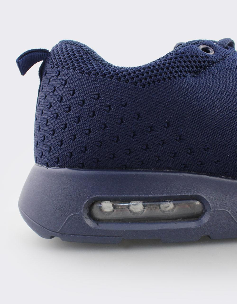Εικόνα από Ανδρικά Sneakers με πλεκτό σχέδιο και αερόσολα Μπλε