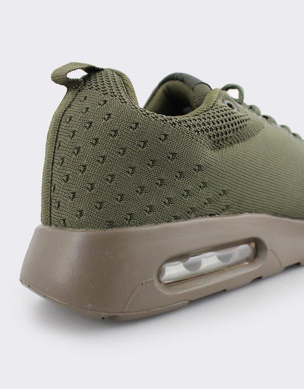 Εικόνα από Ανδρικά Sneakers με πλεκτό σχέδιο και αερόσολα Χακί