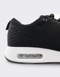 Εικόνα από Ανδρικά Sneakers με πλεκτό σχέδιο και αερόσολα Μαύρο/Λευκό