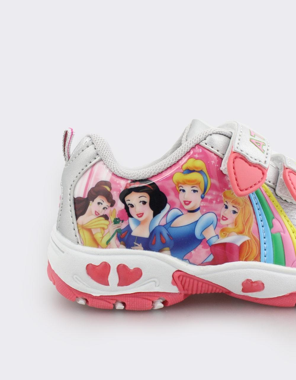 Εικόνα από Παιδικά αθλητικά με πριγκίπισσες και φωτάκια Ασημί/Ροζ