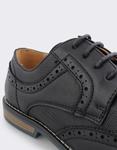 Εικόνα από Ανδρικά loafers με περφορέ σχέδιο Μαύρο