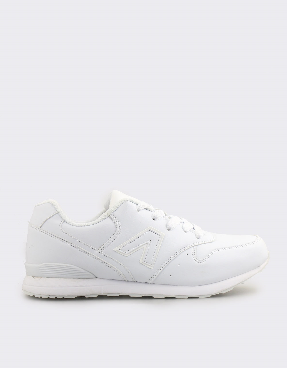 Εικόνα από Ανδρικά sneakers με λεπτομέρεια στο πλάι Λευκό