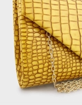 Εικόνα από Γυναικείοι φάκελοι με κροκό μοτίβο Κίτρινο