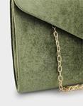 Εικόνα από Γυναικείοι φάκελοι μονόχρωμοι βελούδινοι Χακί