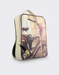 Εικόνα από Γυναικεία σακίδια πλάτης με print ποδήλατο Μπεζ