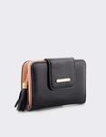 Εικόνα από Γυναικεία πορτοφόλια με φουντάκι Μαύρο