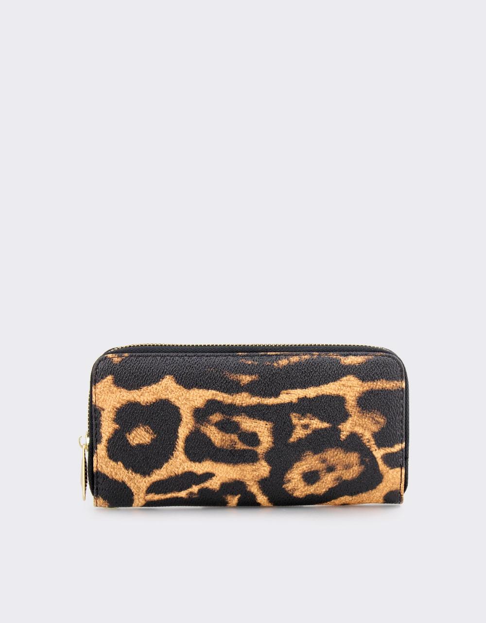 Εικόνα από Γυναικεία πορτοφόλια animal print Καφέ