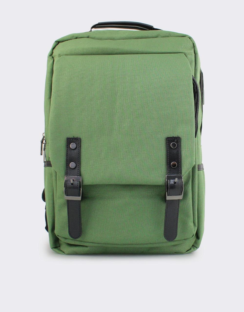 Εικόνα από Ανδρικά σακίδια πλάτης με διπλούς τοκάδες Πράσινο