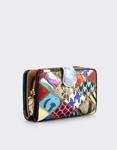 Εικόνα από Γυναικεία πορτοφόλια με πολύχρωμες λεπτομέρειες Σιέλ