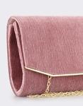 Εικόνα από Γυναικείοι φάκελοι με μεταλλική λεπτομέρεια στο καπάκι Ροζ
