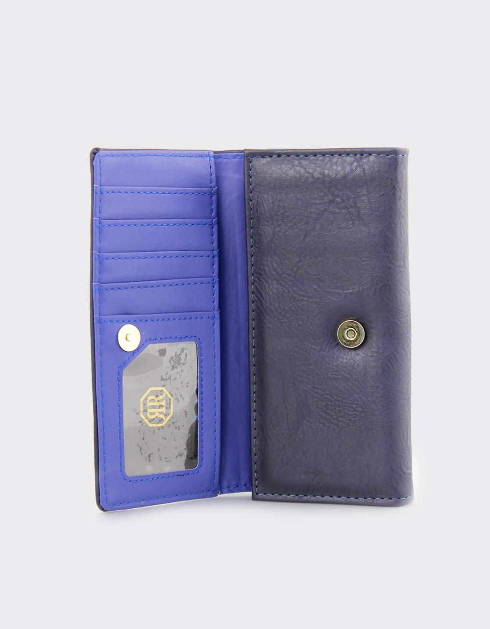 Εικόνα από Γυναικεία πορτοφόλια με διακοσμητικό Navy