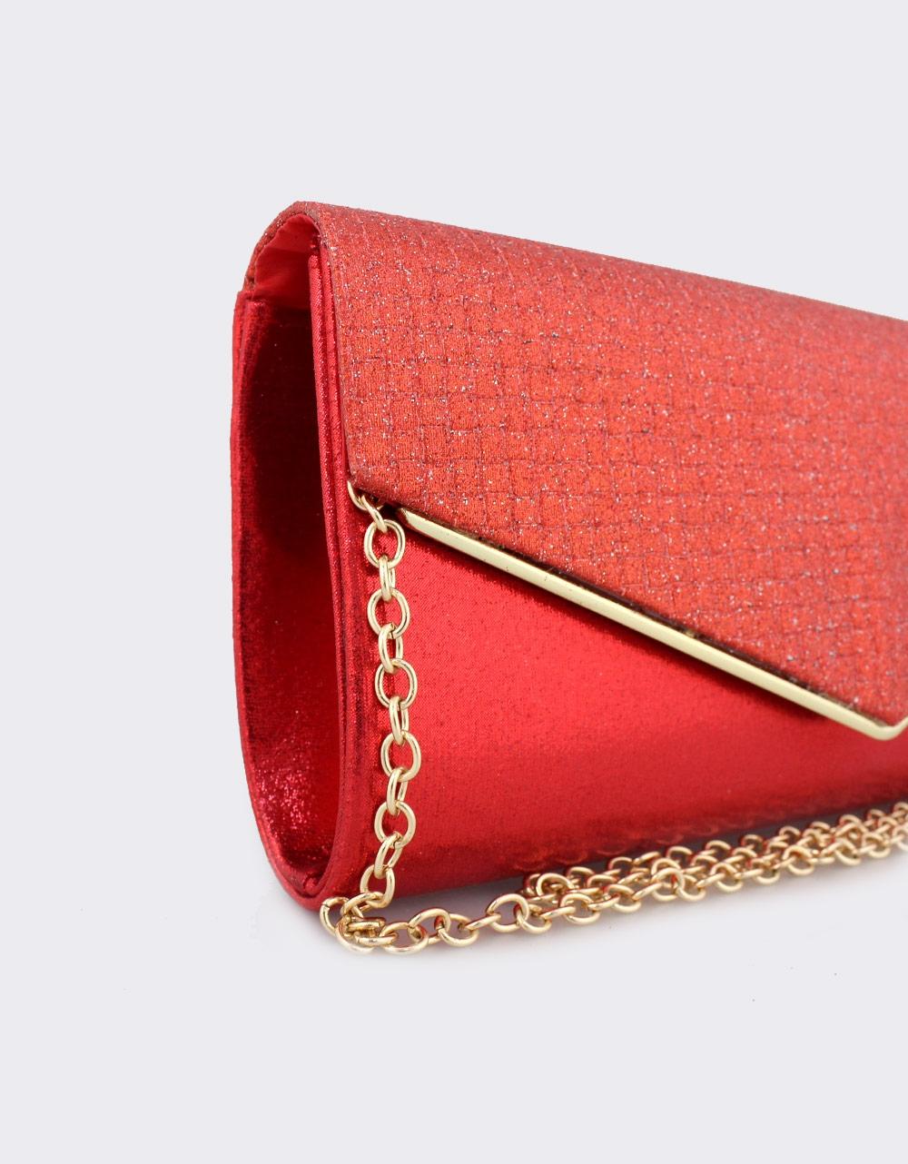 Εικόνα από Γυναικείοι φάκελοι με καπάκι από glitter Κόκκινο