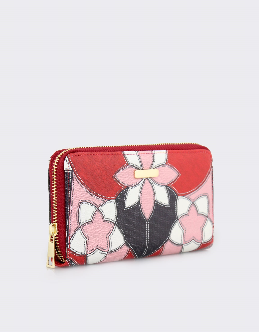 Εικόνα από Γυναικεία πορτοφόλια με σχέδια Κόκκινο