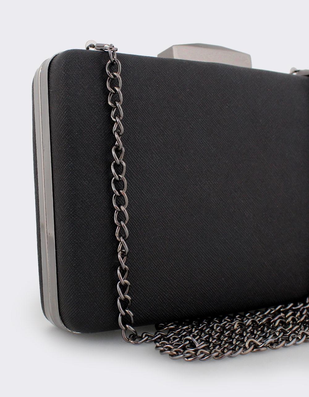 Εικόνα από Γυναικείοι φάκελοι clutch με χρυσόσκονη Μαύρο