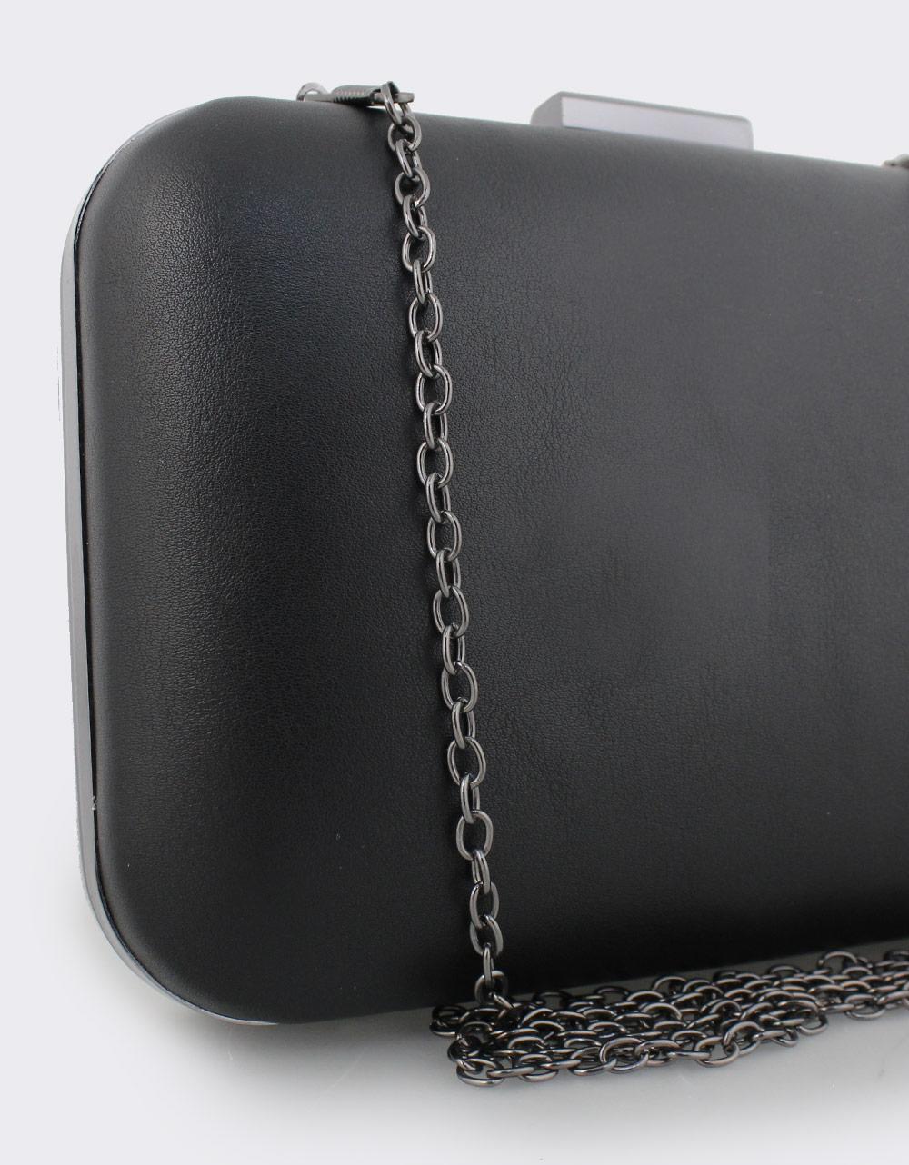 Εικόνα από Γυναικείοι φάκελοι clutch μονόχρωμοι Μαύρο
