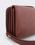 Εικόνα από Γυναικεία πορτοφόλια με snake μοτίβο Καφέ