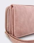 Εικόνα από Γυναικεία πορτοφόλια με snake μοτίβο Ροζ