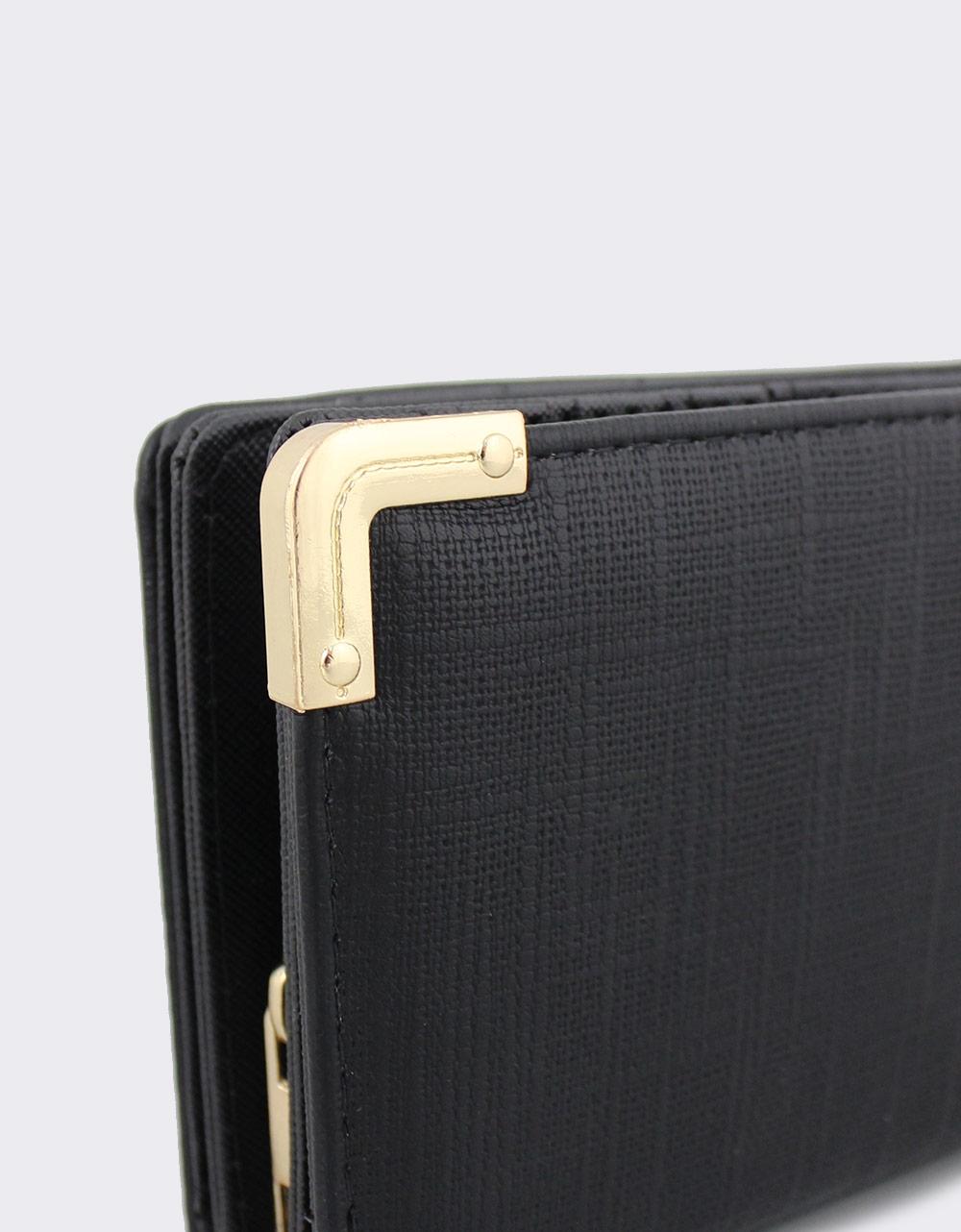 Εικόνα από Γυναικεία πορτοφόλια με μεταλλικά διακοσμητικά Μαύρο