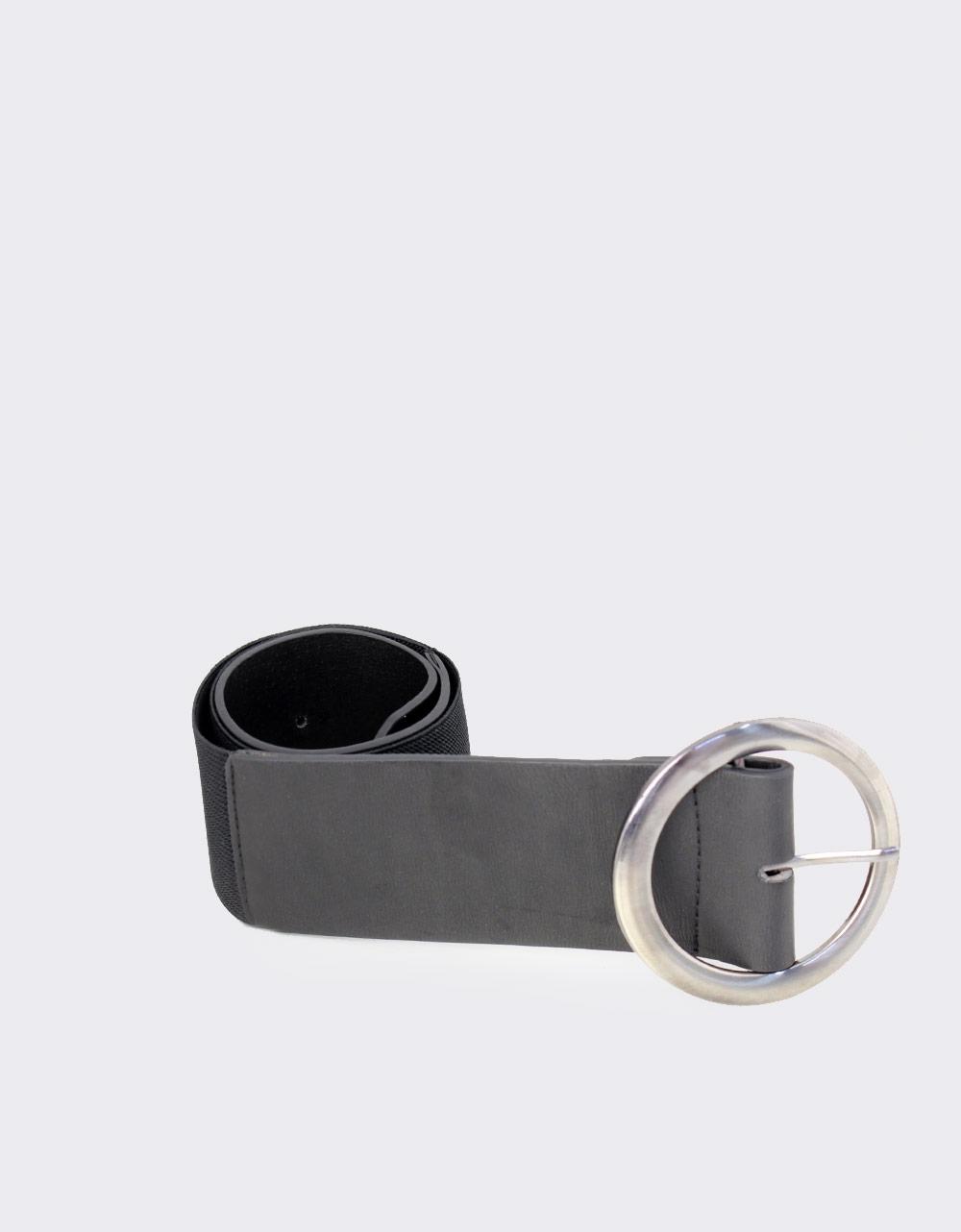 Εικόνα από Γυναικείες ζώνες ελαστικές με στρογγυλό τοκά Μαύρο
