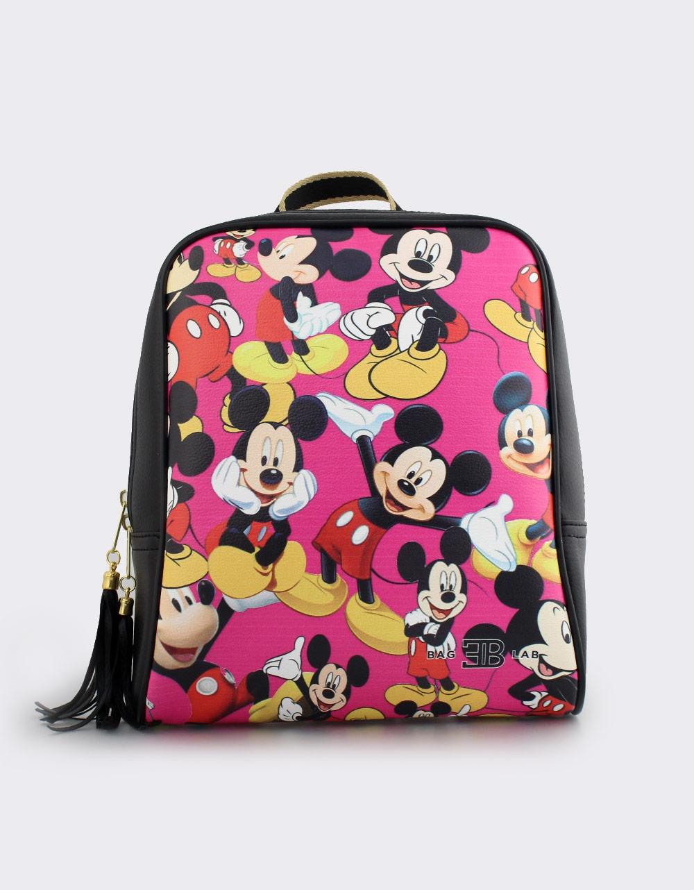Εικόνα από Γυναικεία σακίδια πλάτης με φιγούρες Mickey mouse Μαύρο