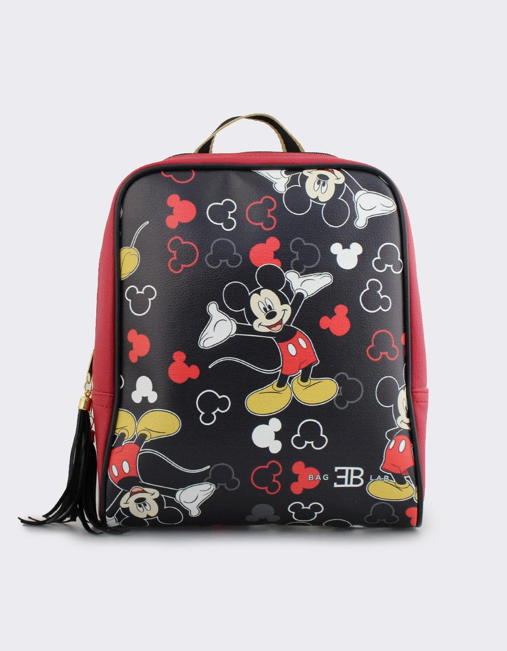 Εικόνα από Γυναικεία σακίδια πλάτης με print Mickey mouse Κόκκινο