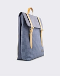 Εικόνα από Γυναικεία σακίδια πλάτης με καρό μοτίβο Μπλε