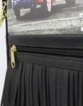 Εικόνα από Γυναικεία σακίδια πλάτης με print London Μαύρο