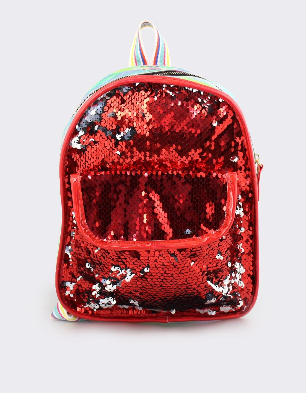 Εικόνα από Παιδικά σακίδια πλάτης με πούλιες Κόκκινο