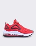 Εικόνα από Ανδρικά sneakers με αερόσολα και ανάγλυφα σχέδια Κόκκινο/Μαύρο