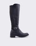 Εικόνα από Γυναικείες μπότες με κροκό λεπτομέρειες Μαύρο