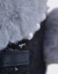 Εικόνα από Παιδικά σακίδια πλάτης με γατάκι και πέρλες Μαύρο