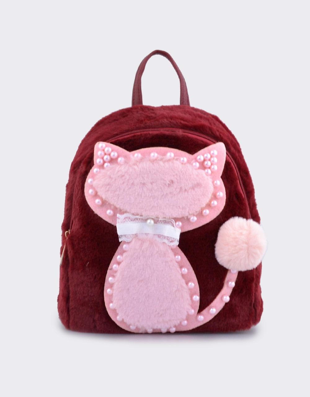 Εικόνα από Παιδικά σακίδια πλάτης με γατάκι και πέρλες Μπορντώ