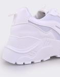 Εικόνα από Γυναικεία sneakers μονόχρωμα Λευκό