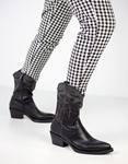 Εικόνα από Γυναικεία μποτάκια με λεπτομέρεια από glitter Μαύρο