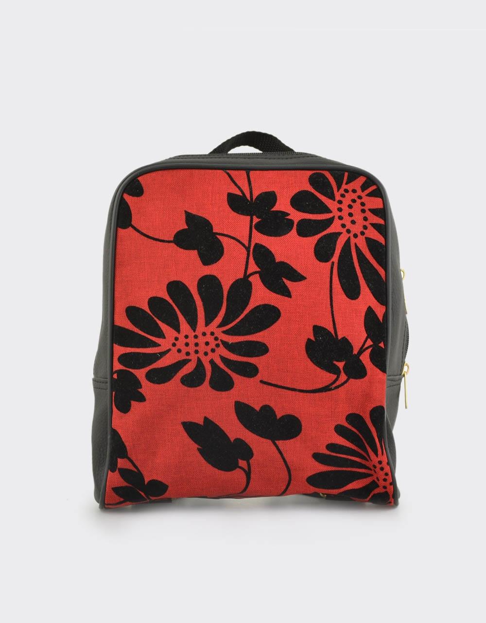 Εικόνα από Γυναικεία σακίδια πλάτης με λουλούδια Κόκκινο