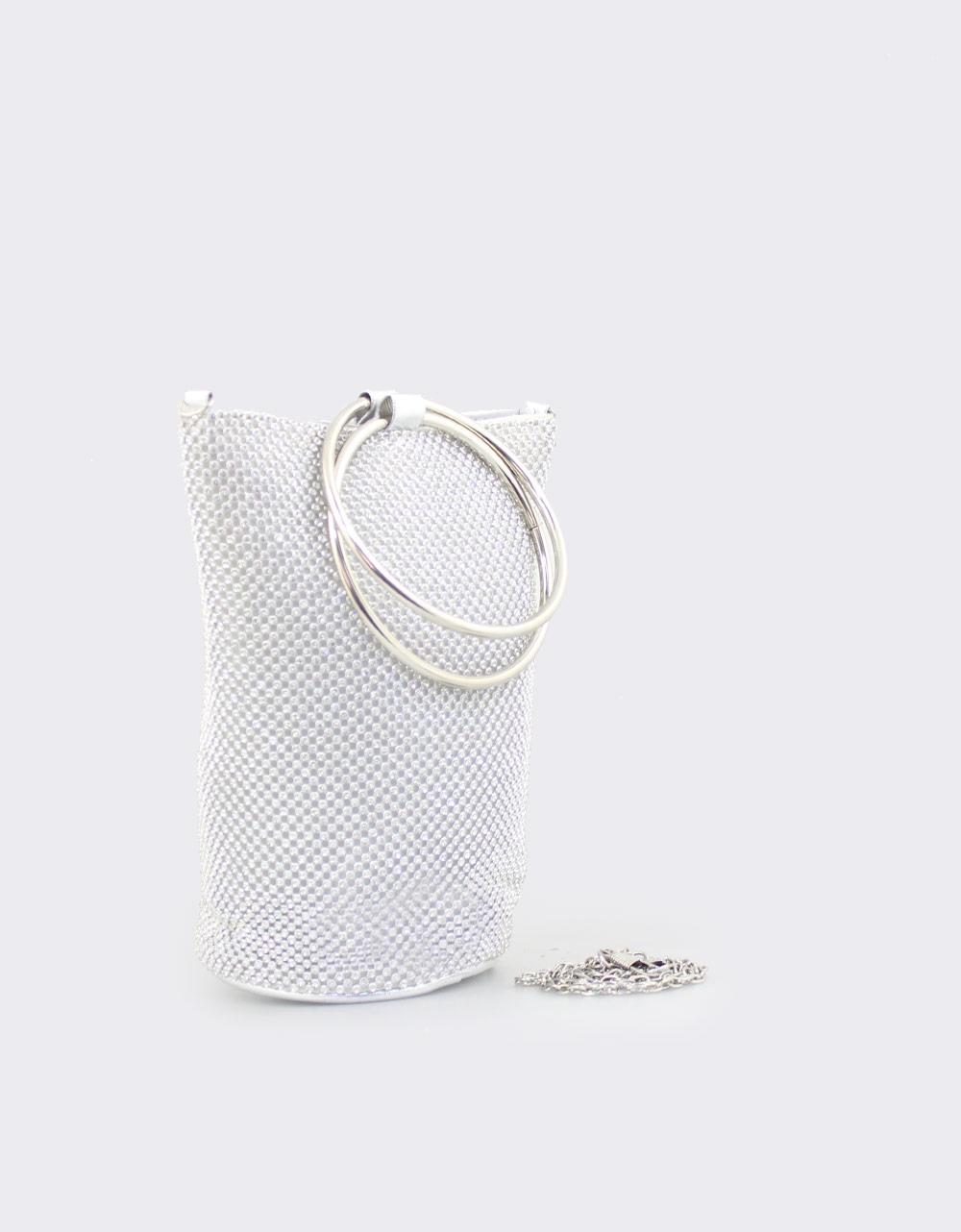 Εικόνα από Γυναικείες τσάντες χειρός με strass Ασημί