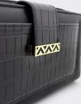 Εικόνα από Γυναικεία πορτοφόλια με κροκό λεπτομέρεια Μαύρο