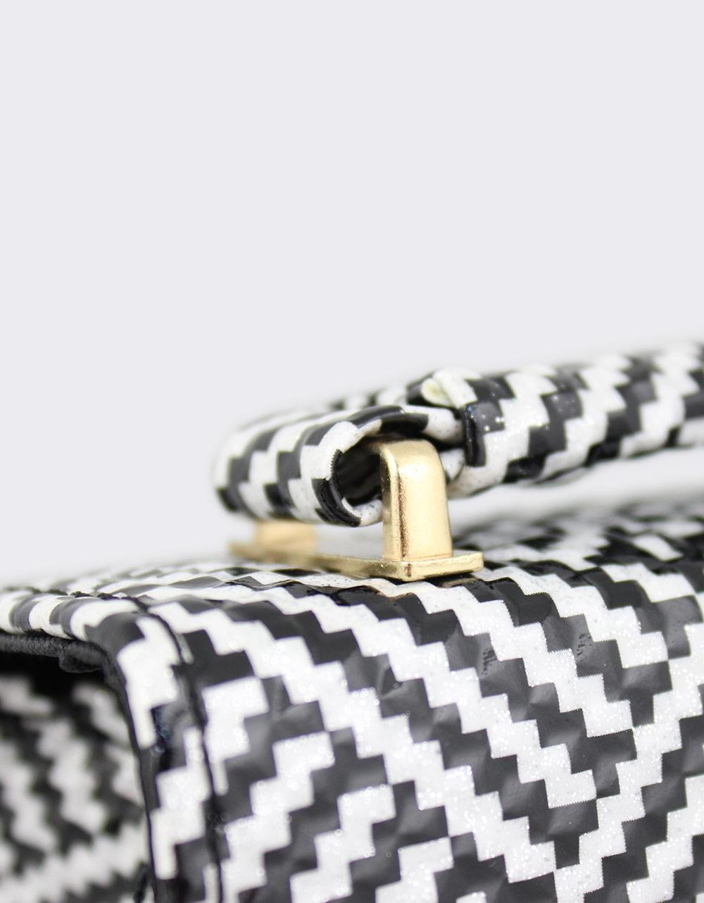 Εικόνα από Γυναικείες τσάντες ώμου με μοτίβο Μαύρο